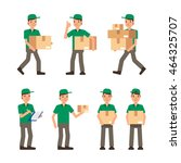 warehouse inventory and... | Shutterstock .eps vector #464325707