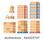 warehouse inventory and... | Shutterstock .eps vector #464325737