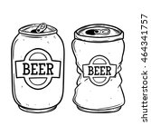 broken beer can using doodle... | Shutterstock .eps vector #464341757