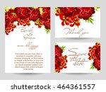 romantic invitation. wedding ... | Shutterstock . vector #464361557