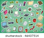 a large set of office objects... | Shutterstock .eps vector #46437514
