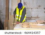 joiner making some furniture... | Shutterstock . vector #464414357