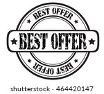 "circle grunge stamp ""best offer""   Shutterstock .eps vector #464420147"