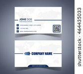 modern business card template... | Shutterstock .eps vector #464435033