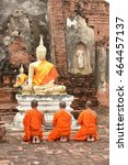 pray for faith in buddhism | Shutterstock . vector #464457137