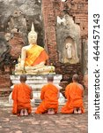 pray for faith in buddhism | Shutterstock . vector #464457143