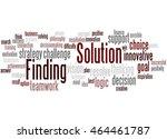 solution finding  word cloud... | Shutterstock . vector #464461787