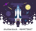 vector illustration of rocket... | Shutterstock .eps vector #464473667