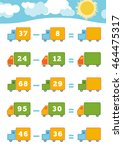 counting game for preschool... | Shutterstock .eps vector #464475317