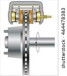 hydraulic disk brake | Shutterstock .eps vector #464478383