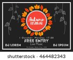fall festival template. bright... | Shutterstock .eps vector #464482343