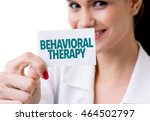 behavioral therapy   Shutterstock . vector #464502797