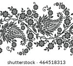 paisley indian motif | Shutterstock .eps vector #464518313