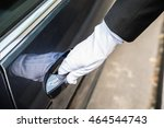 Close Up Of A Male Chauffeur...