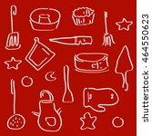 cooking utensils set of icons.... | Shutterstock .eps vector #464550623