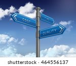 directional sign series  cost... | Shutterstock . vector #464556137