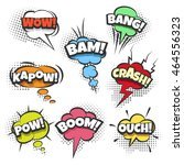 comic sound effects text in... | Shutterstock .eps vector #464556323