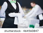 catering service. waitress on... | Shutterstock . vector #464560847
