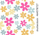 flower   floral seamless pattern   Shutterstock .eps vector #464578727