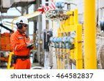 operator or worker recording... | Shutterstock . vector #464582837