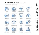 simple set of business people... | Shutterstock .eps vector #464594237
