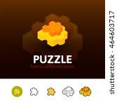 puzzle color icon  vector... | Shutterstock .eps vector #464603717