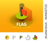 flag color icon  vector symbol...