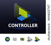 controller color icon  vector...