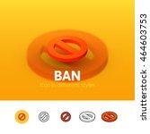 ban color icon  vector symbol...