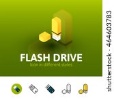 flash drive color icon  vector...