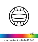 web line icon. water polo | Shutterstock .eps vector #464612243