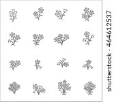 flower icons for pattern with... | Shutterstock .eps vector #464612537