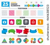 offer sale tags  textures and... | Shutterstock .eps vector #464638523