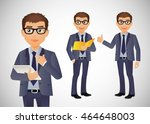 elegant people businessman | Shutterstock .eps vector #464648003