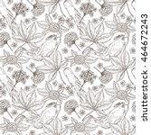 medicinal plants seamless... | Shutterstock .eps vector #464672243