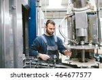 serious bearded worker on... | Shutterstock . vector #464677577