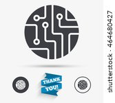 circuit board sign icon.... | Shutterstock .eps vector #464680427