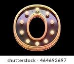 golden lamp signboard font.3d... | Shutterstock . vector #464692697