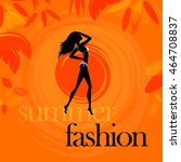 summer fashion orange | Shutterstock .eps vector #464708837