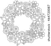 flowers  vector flowers  doodle ... | Shutterstock .eps vector #464720087