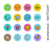 animals icons | Shutterstock .eps vector #464751647
