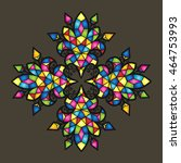 vector mosaic background. color ... | Shutterstock .eps vector #464753993