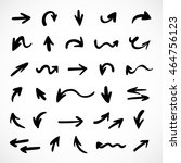 hand drawn arrows  vector set | Shutterstock .eps vector #464756123