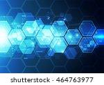 vector digital speed technology ... | Shutterstock .eps vector #464763977
