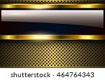 golden metallic background  3d... | Shutterstock .eps vector #464764343