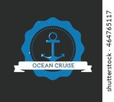 nautical logo. made in vintage... | Shutterstock .eps vector #464765117
