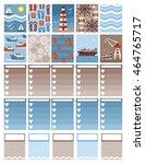 planner stickers. vector | Shutterstock .eps vector #464765717
