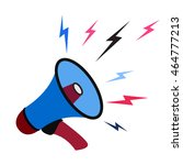 megaphone icon with sound... | Shutterstock .eps vector #464777213