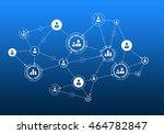 social media communication .... | Shutterstock . vector #464782847