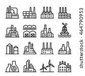 industrial building   factory... | Shutterstock .eps vector #464790953